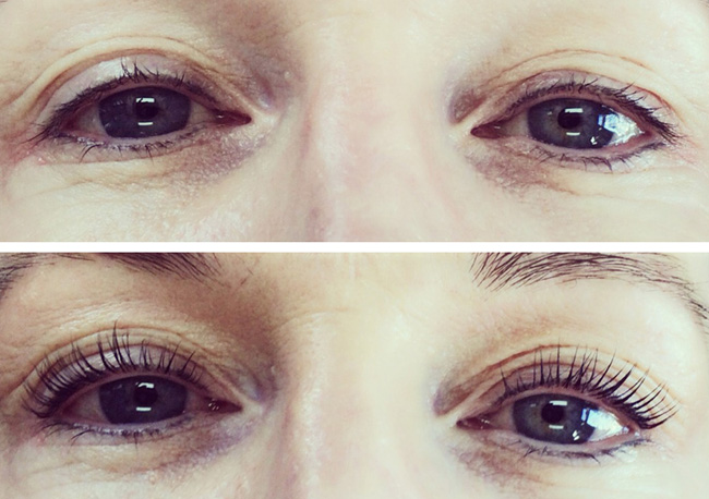 Lash Lift Before and After